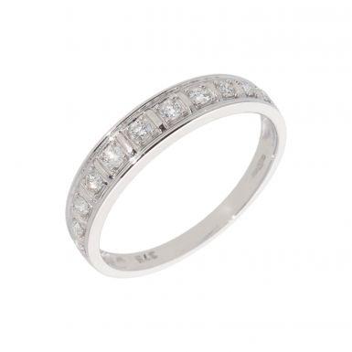 New 9ct White Gold 0.22ct Diamond Eternity Ring