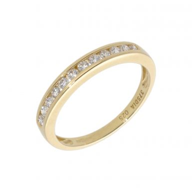 New 9ct Yellow Gold 0.25ct Diamond Channel Set Eternity Ring