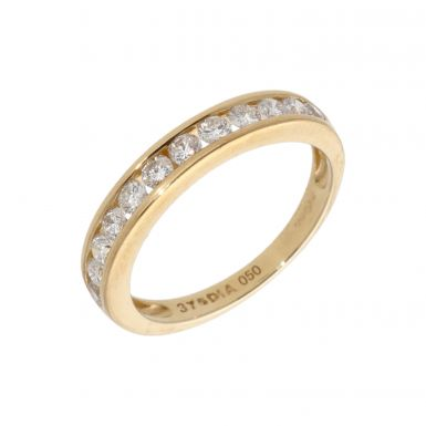 New 9ct Yellow Gold 0.26ct Diamond Channel Set Eternity Ring