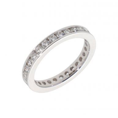 New 18ct White Gold 1.00ct Diamond Full Hoop Eternity Ring