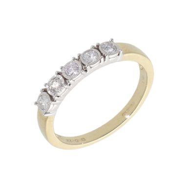 New 9ct Yellow Gold 0.25ct Diamond Eternity Style Ring