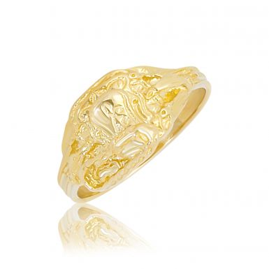 New 9ct Yellow Gold Childs Saddle Dress Ring