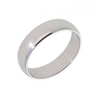 New Platinum 5mm D Shape Wedding Ring
