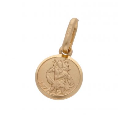 New 9ct Yellow Gold St Christopher Medal Pendant