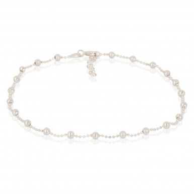 New Sterling Silver Bead Link Anklet