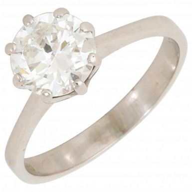 Pre-Owned 18ct White Gold 1.35 Carat Diamond Solitaire Ring