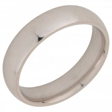 Pre-Owned 9ct White Gold 5mm Wedding Band Ring