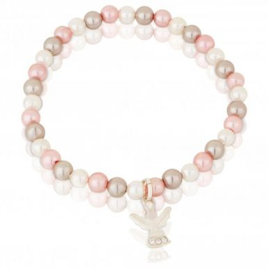 New Sterling Silver Guardian Angel Pearl Bracelet