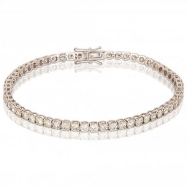 New 18ct White Gold 5.00 Carat Diamond Tennis Bracelet