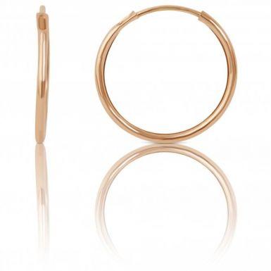 New 9ct Yellow Gold 18mm Diamond-Cut Sleeper Hoop Earrings