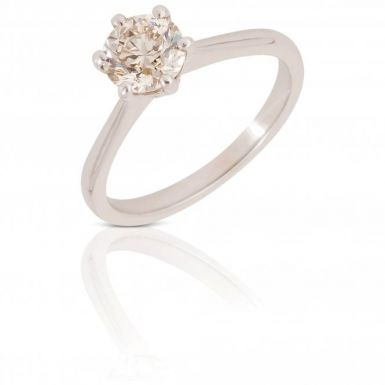 New 9ct White Gold 0.92 Carat Diamond Solitaire Ring