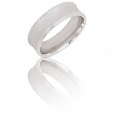 New Sterling Silver 6mm Satin Effect Wedding Ring
