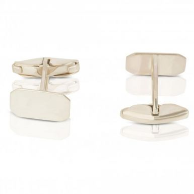 New Sterling Silver Oblong Cufflinks with Swivel fittings