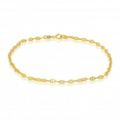 New 9ct Yellow Gold 9 Inch Gucci Link Anklet
