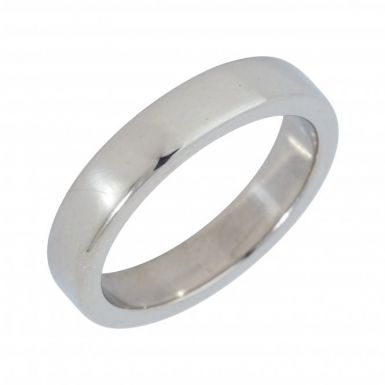 Pre-Owned 9ct White Gold 4mm Flat Wedding Band Ring