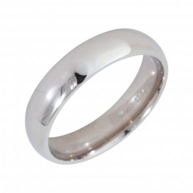 Pre-Owned 18ct White Gold 5mm Wedding Band Ring