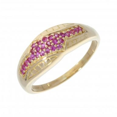 Pre-Owned 18ct Yellow Gold Ruby Dress Ring