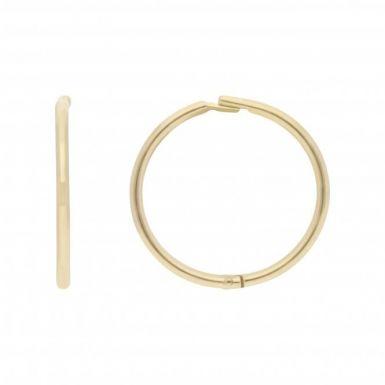 New 9ct Yellow Gold 10mm Hinged Sleeper Hoop Earrings