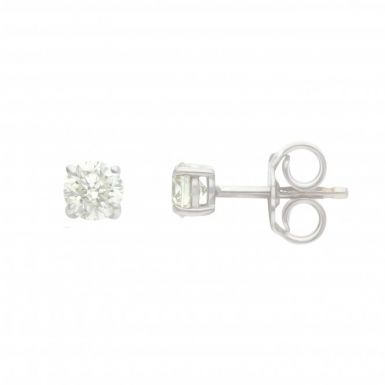 New 18ct White Gold 0.60ct Diamond Classic Stud Earrings