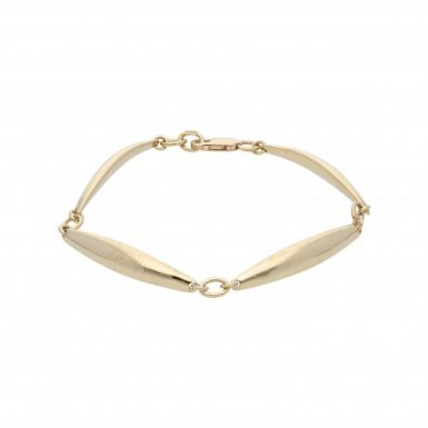 Pre-Owned 9ct Yellow Gold 7 Inch Bar Link Bracelet