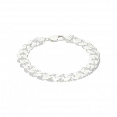 New Sterling Silver 8 Inch Solid Curb Link Mens Bracelet