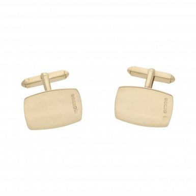 Pre-Owned 9ct Yellow Gold Square Cufflinks