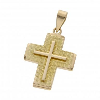 Pre-Owned 14ct Yellow Gold Fancy Cross Pendant