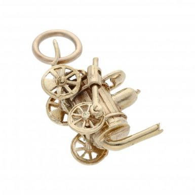 Pre-Owned 9ct Yellow Gold Steam Engine Charm
