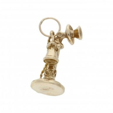 Pre-Owned 9ct Yellow Gold Vintage Phone Charm
