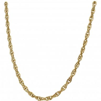 Pre-Owned 9ct Yellow Gold 24 Inch P.O.W Chain Necklace