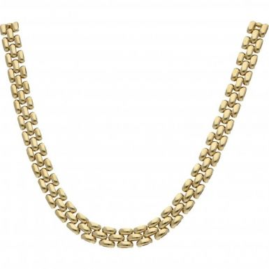 Pre-Owned 9ct Yellow Gold 16 Inch Brick Link Collarette Necklet
