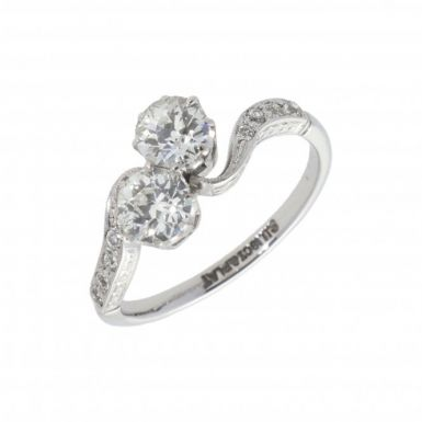 Pre-Owned Vintage 1.15ct Diamond Twist Ring & Diamond Shoulders