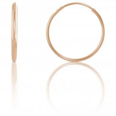 New 9ct Yellow Gold 12mm Polished Sleeper Hoop Earrings