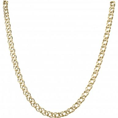 Pre-Owned 9ct Yellow Gold 20 Inch Double Curb Chain Necklace
