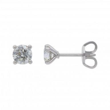 New 18ct White Gold 0.80ct Diamond Stud Earrings