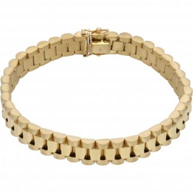 New 9ct Yellow Gold 8Inch 10mm Width Rolex Style Bracelet 31g