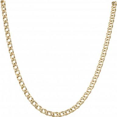 Pre-Owned 9ct Yellow Gold 18 Inch Double Curb Chain Necklace