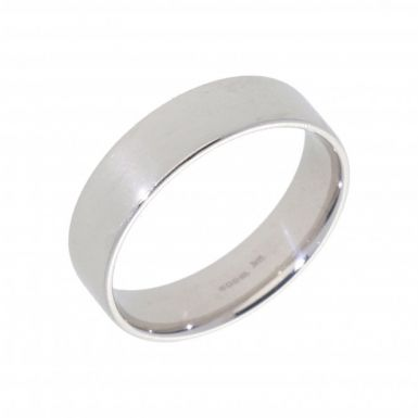 New 9ct White Gold 6mm Modern Flat Court Wedding Ring