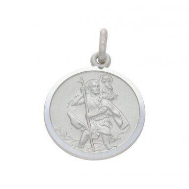 New Sterling Silver Reversible St Christopher Pendant