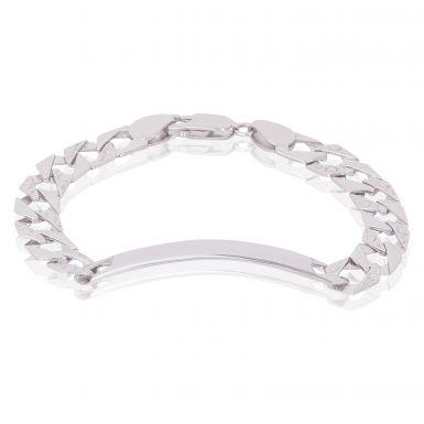 New Silver Childs Identity Bracelet Pattern & Polished Link