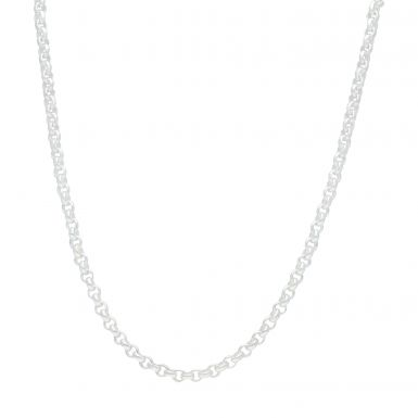 New Sterling Silver 24 Inch Round Belcher Chain Necklace