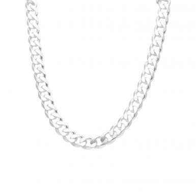 New Sterling Silver Heavy 24 Inch Curb Link Chain Necklace 3.7oz