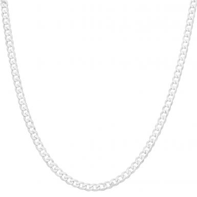 """New Sterling Silver 26"""" Solid Curb Link Chain Necklace"""