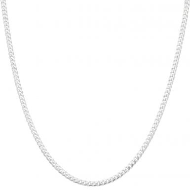 """New Sterling Silver 24"""" Cuban Curb Link Chain Necklace15g"""