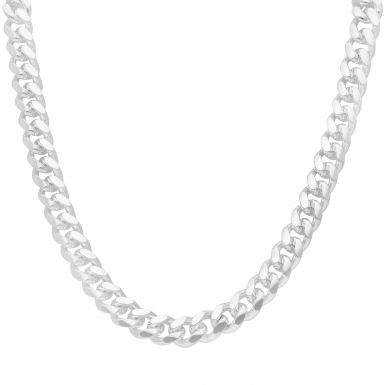 """New Sterling Silver 24"""" Cuban Curb Link Chain Necklace 5oz"""