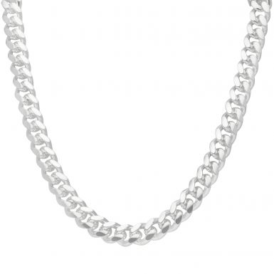 """New Sterling Silver 28"""" Cuban Curb Link Chain Necklace 5.4oz"""