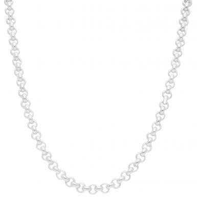 New Sterling Silver 24 Inch Round Belcher Chain Necklace 1.8oz