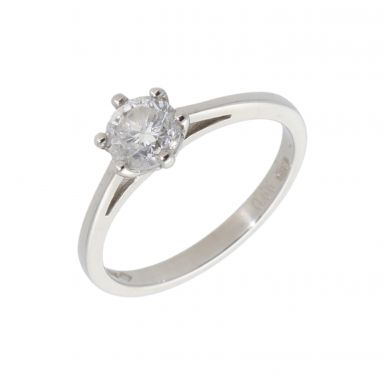 Pre-Owned Platinum 0.66 Carat Diamond Solitaire Ring