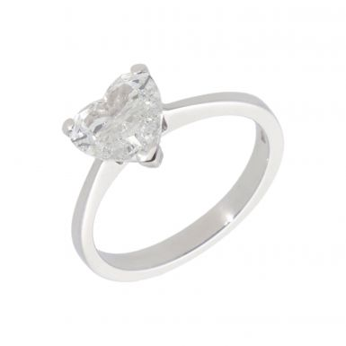 Pre-Owned Platinum 1.06 Carat Heart Shape Diamond Solitaire Ring