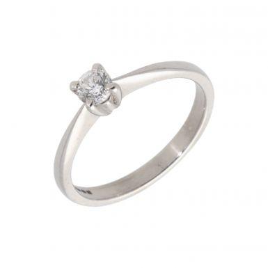 Pre-Owned Platinum 0.20 Carat Diamond Solitaire Ring
